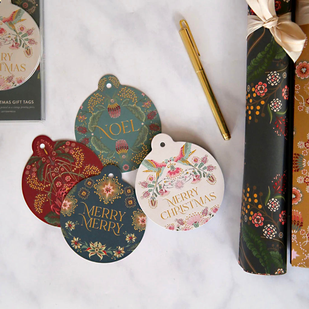 Kaleidoflora Bauble Tags - 12 pack