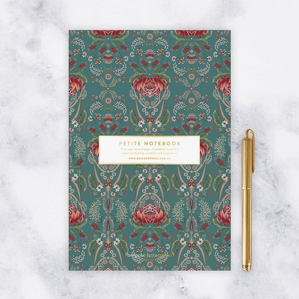 Petite Notebook - Waratah (Dot Grid)
