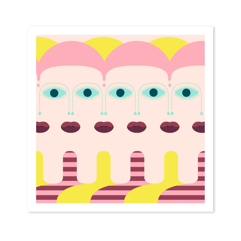 ART PRINT - The Girl with Too Many by Seek Love Keep