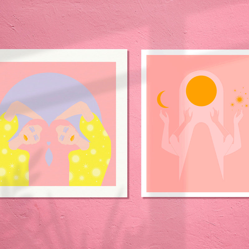 ART PRINT - SUN + MOON SERIES - Thankful Song by Seek Love Keep