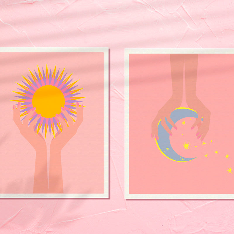 ART PRINT - SUN + MOON SERIES - Sun Soul by Seek Love Keep