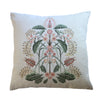 """Wattle Delight"" Linen Cushion Cover  - Silver"