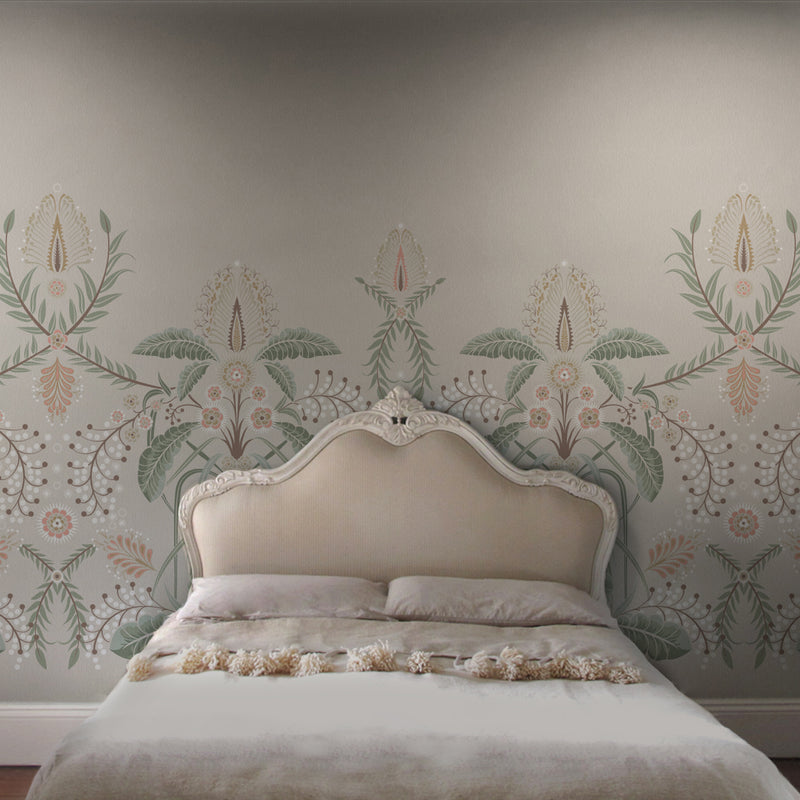 WATTLE DELIGHT MURAL WALLPAPER - Blush