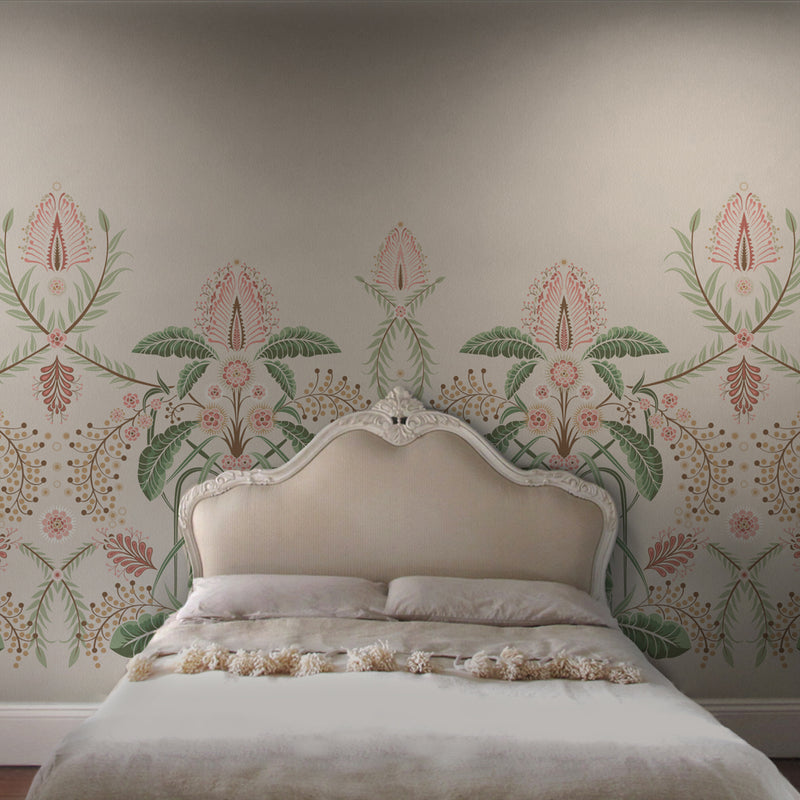WATTLE DELIGHT MURAL WALLPAPER - Cream