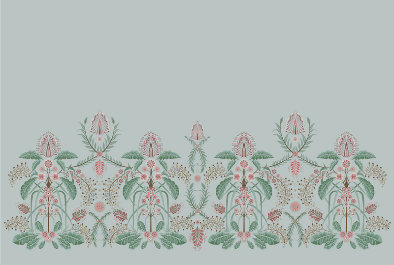 WATTLE DELIGHT MURAL WALLPAPER - Silver