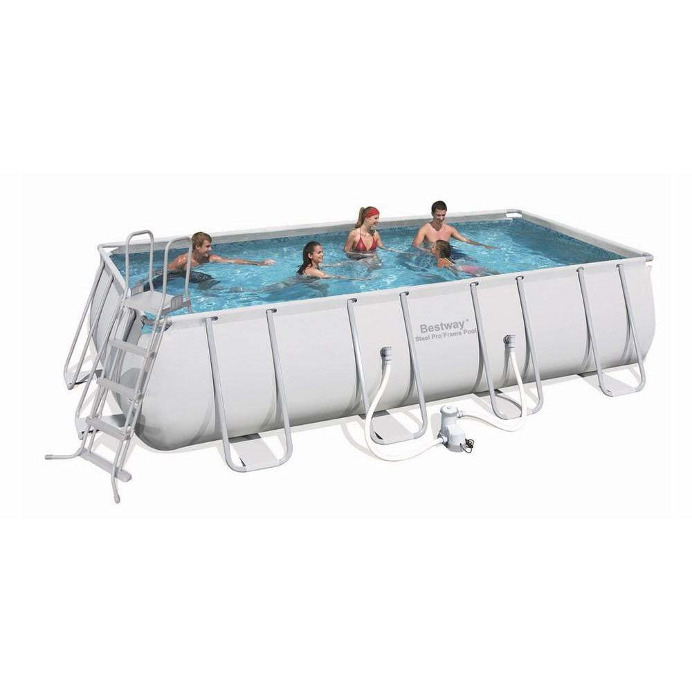 "Bestway 22' x 12' x 52""/6.71m x 3.66m x 1.32m Power Steel Rectangular Frame Pool SetBestway 22' x 12' x 52""/6.71m x 3.66m x 1.32m Power Steel Rectangular Frame Pool Set - rafplay"