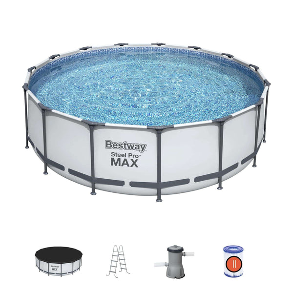 "Bestway 15' x 48""/4.57m x 1.22m Steel Pro Frame Pool Set"