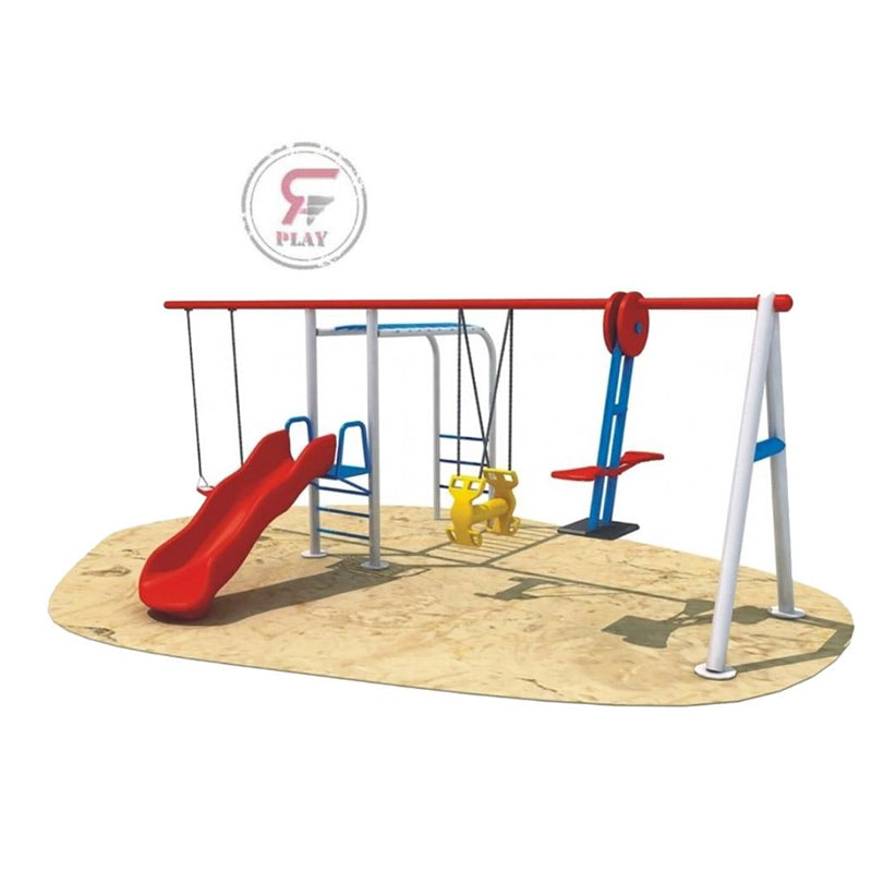 Raf  Lil Monkeys Glide swing n Slide Metal Play Set