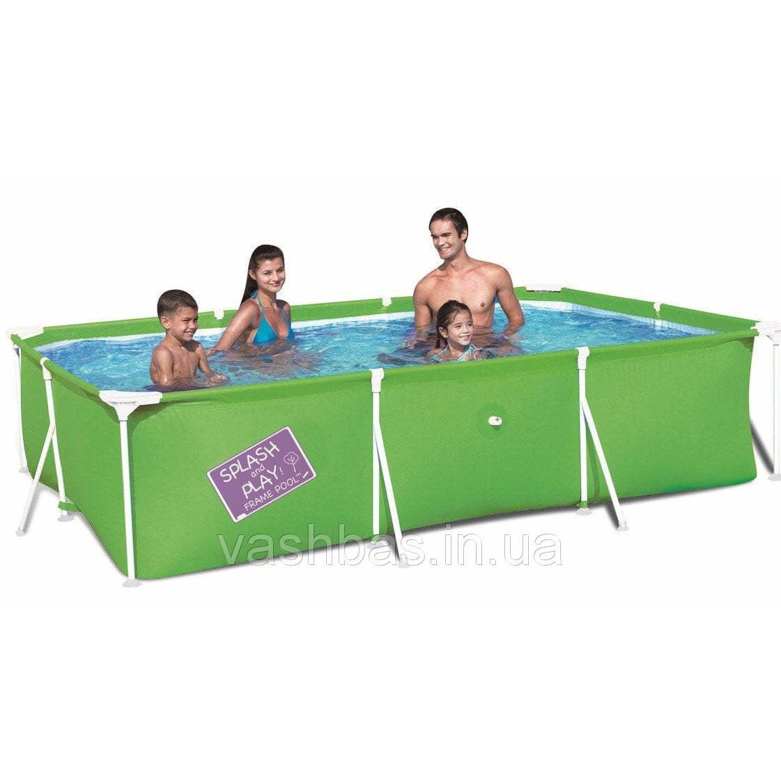 "Bestway 118"" x 79"" x 26""/3.00m x 2.01m x 66cm My First Frame Pool - rafplay"