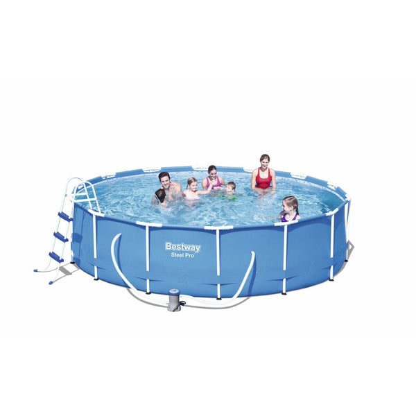 "Bestway 14' x 39.5""/4.27m x 1.0m Steel Pro Frame Pool Set - rafplay"