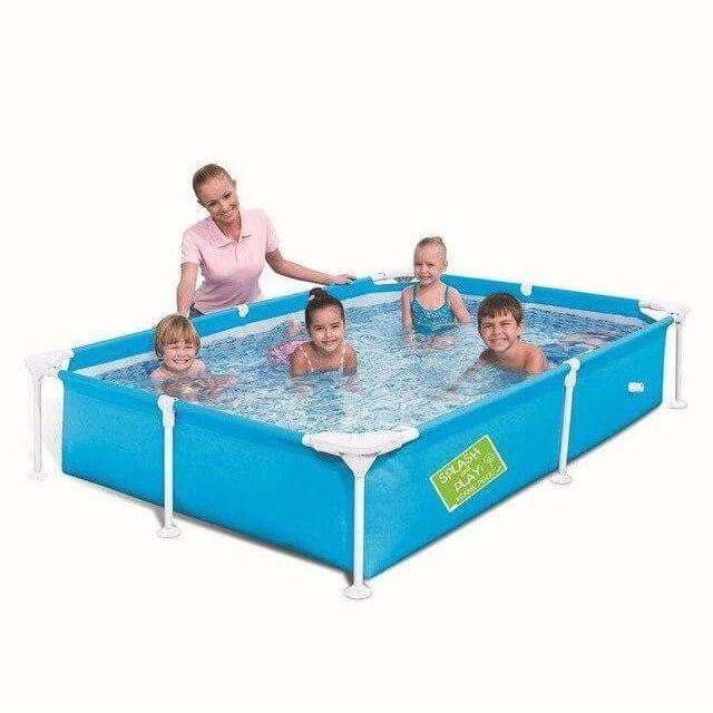 "Bestway 64"" x 64"" x 14""/1.63m x 1.63m x 35.5cm My First Frame Pool - rafplay"