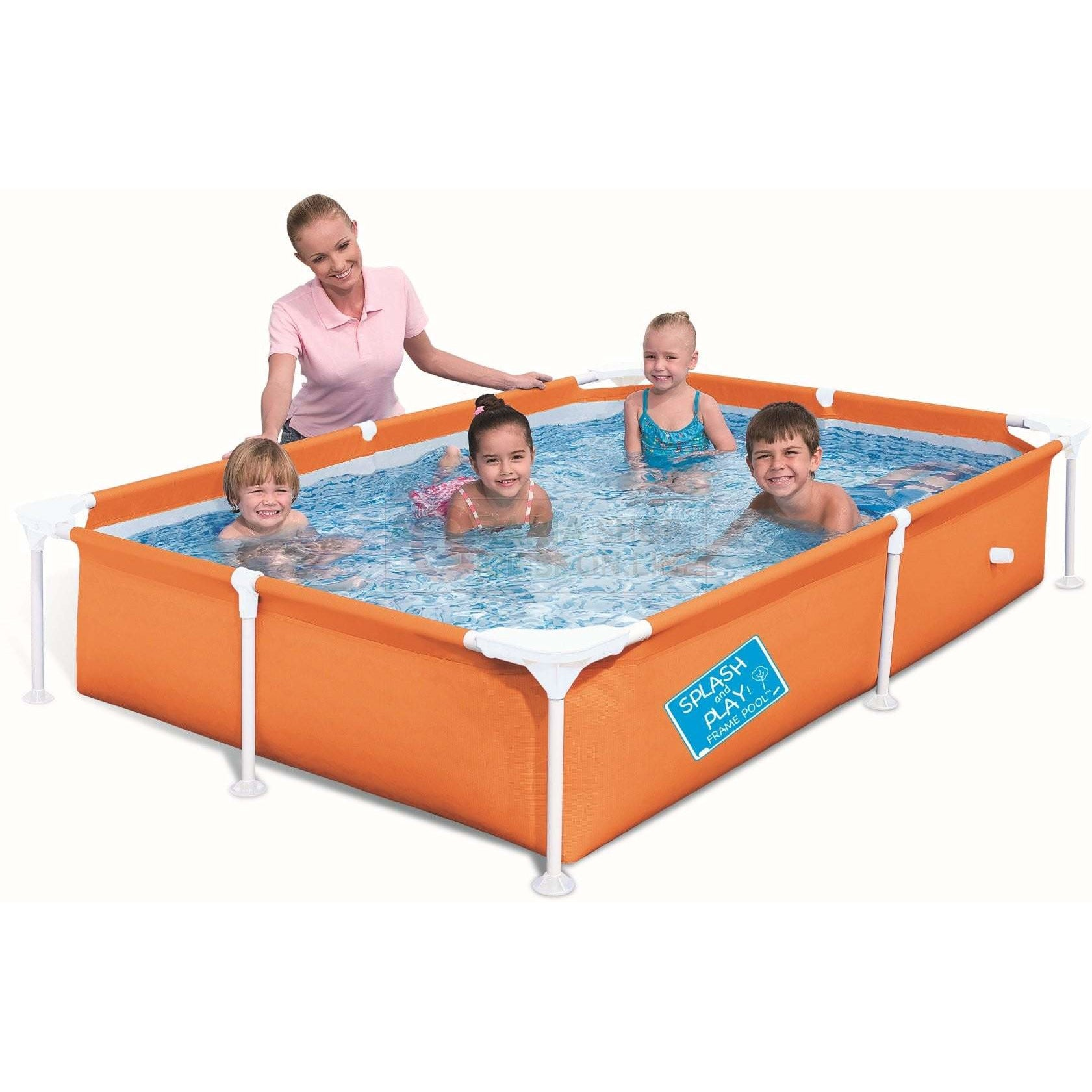 "Bestway 87"" x 59"" x 17""/2.21m x 1.50m x 43cm My First Frame Pool - rafplay"
