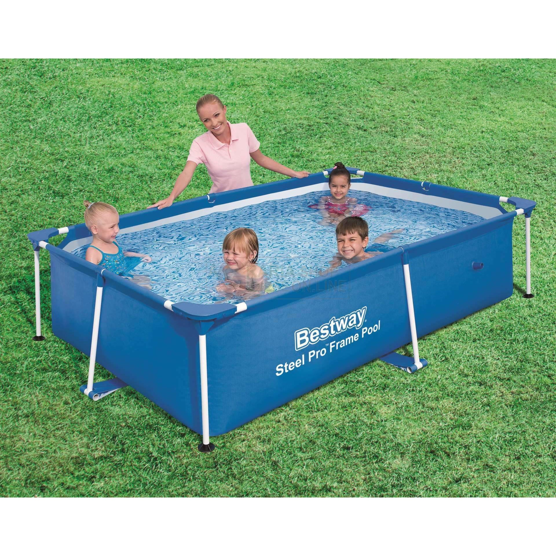 "Bestway 94"" x 59"" x 23""/2.39m x 1.50m x 58cm 1800L Splash Frame Pool - rafplay"