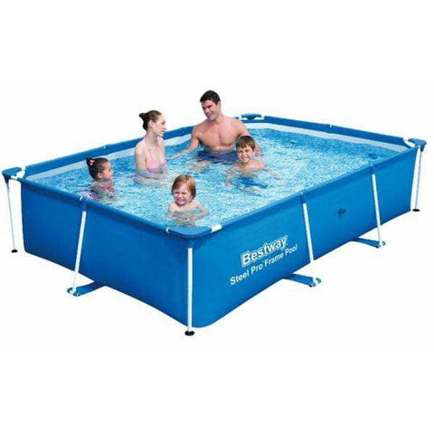 "Bestway 102"" x 67"" x 24""/2.59m x 1.70m x 61cm 2300L Deluxe Splash Jr. Frame Pool - rafplay"