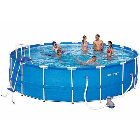 "Bestway 18' x 48""/5.49m x 1.22m Steel Pro Frame Pool Set - rafplay"