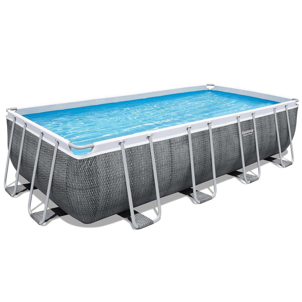 BESTWAY POWER STEEL ™️ FRAME RECTANGULAR POOL 549 X 274 X 122 CM