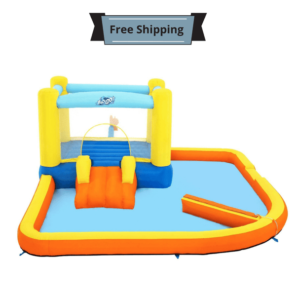 Inflatable H2OGO!® Beach Bounce Water Park with Bouncy Castle – 365 x 340 x 152 cm