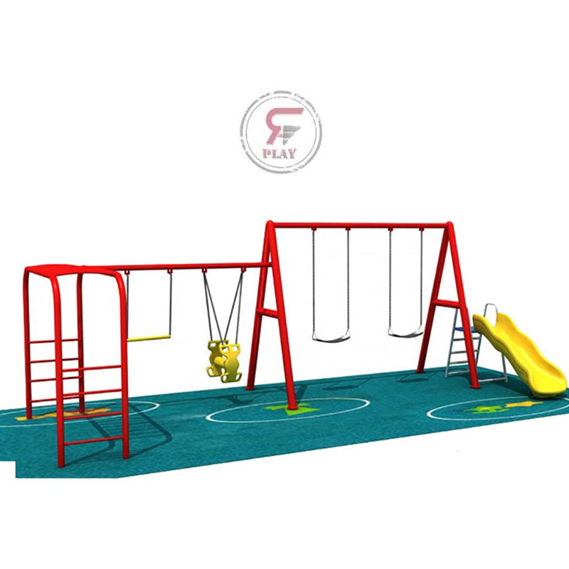 Raf Mini Amusement  Playpark  metal playset with swings and slides and glider