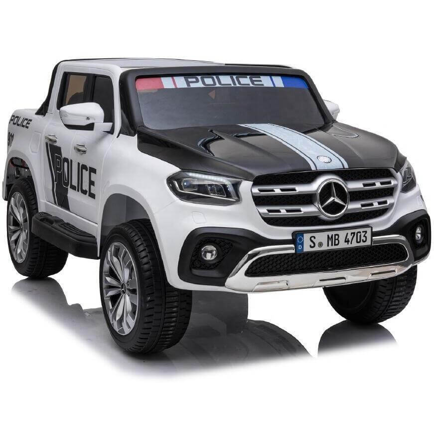Raf Licensed 12 v Mercedes Benz X-CLASS Police Patrol Ride on car with twin seats For Kids