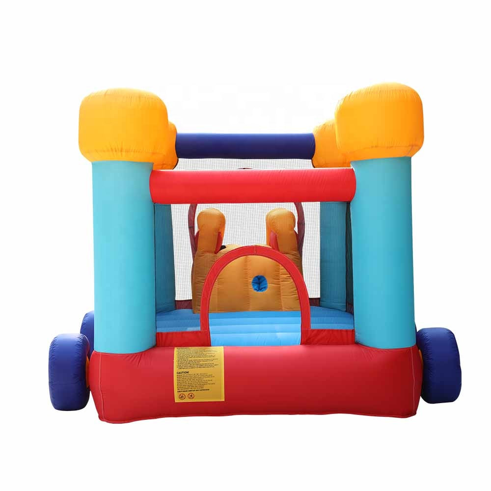 Megastar Inflatable Bouncy Excavator Car Castle for  slide and climbing wall 4.05x 2.60 x 1.95 mtr