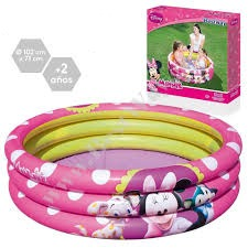 Bestway Minnie Mouse Inflatable 3-Ring Pool 101L