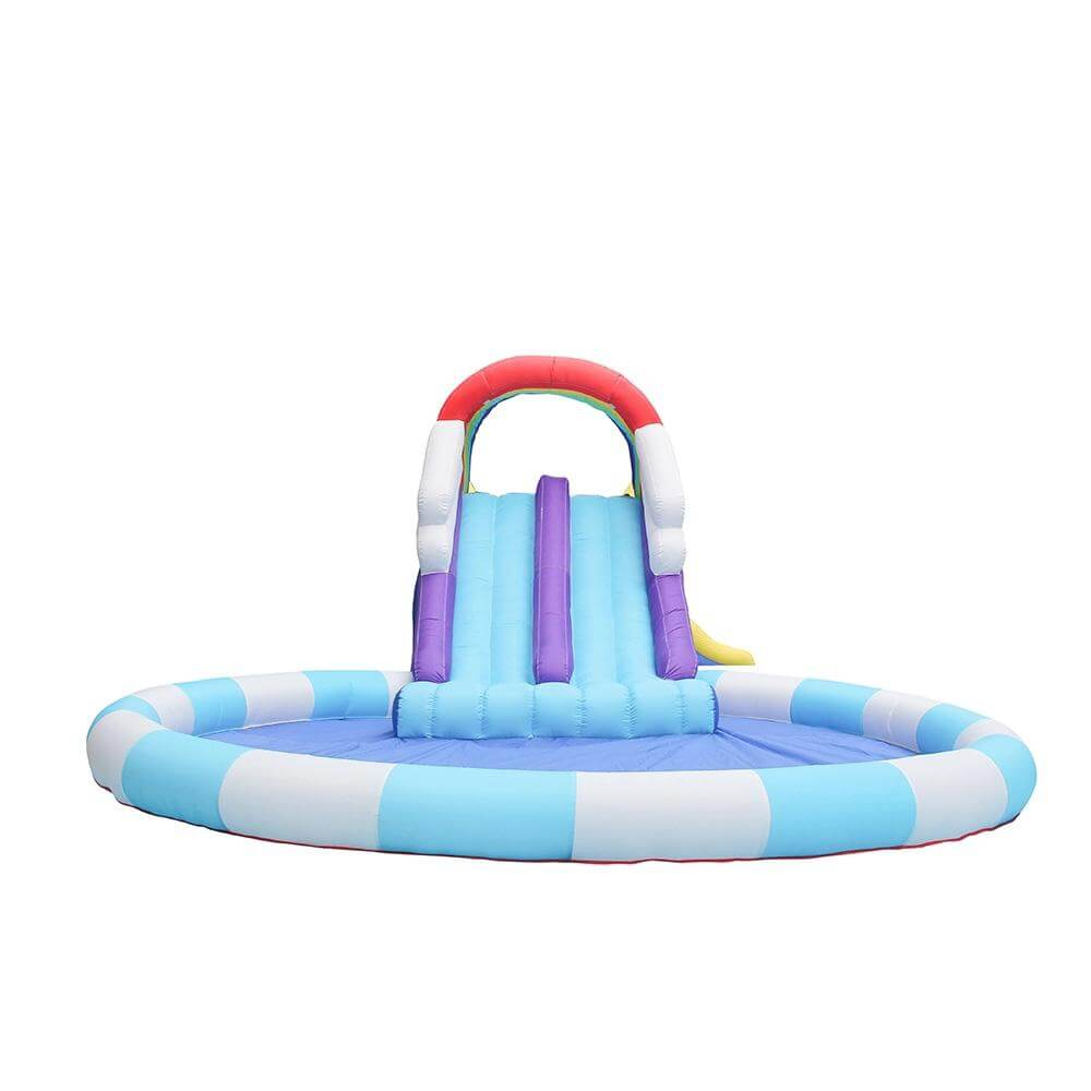 Megastar  Inflatable Rainbow & Cloudy Bouncer Water Pool Combo Kids  Slide 8.40 x 5.80 x 2.55 mtr