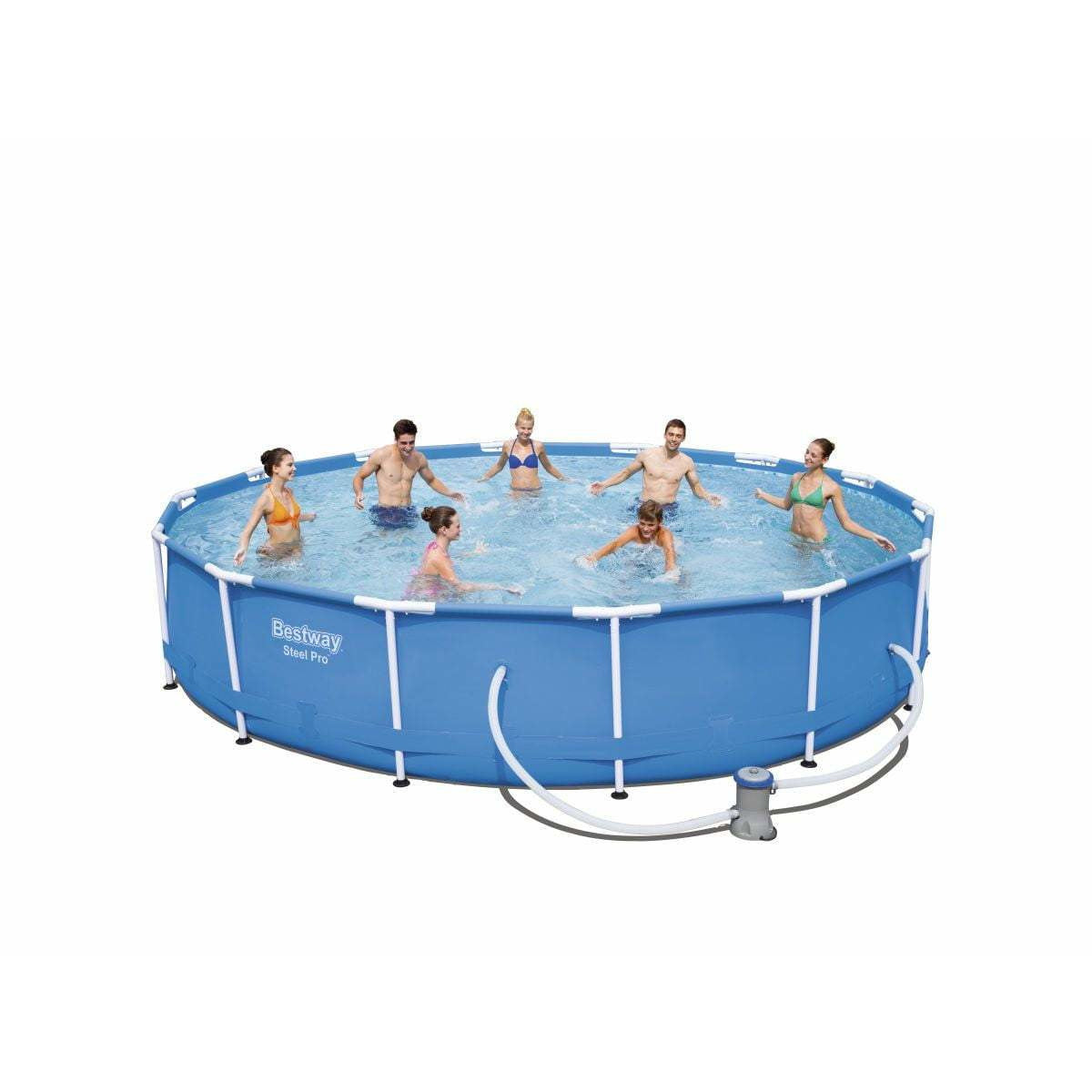"Bestway 14' x 33""/4.27m x 84cm Steel Pro Frame Pool Set - rafplay"