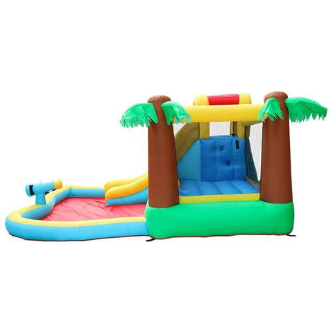 Megastar Inflatable  Desert Palm Bounce Slide & Spray Frond House BouncerWith Water Cannon - 3.85 x 2.93 x 1.98 m