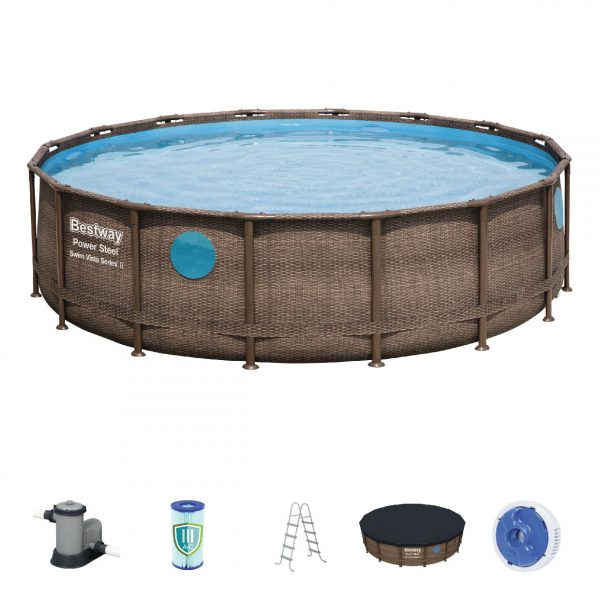 Bestway Power Steel Swim Vista Series Pool Set 4.88m x 1.22m (16′ x 48″)
