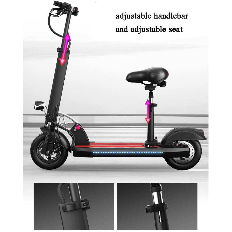 FOLDABLE SPEEDY FLASH TEN 75 kmph LED ELECTRIC SCOOTER  With seat