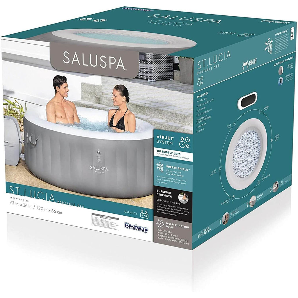 LAY Z SPA St. Lucia SaluSpa St.Lucia AirJet Inflatable Hot Tub (67