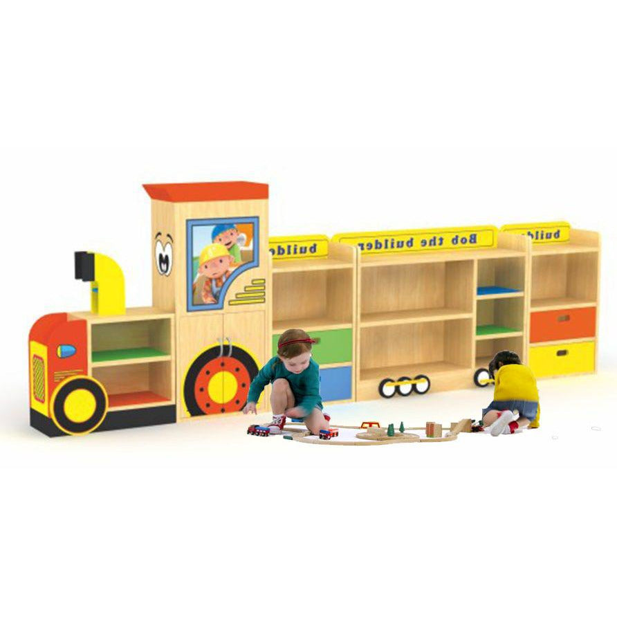 Raf Monorail Storage and bookshelf wooden organiser