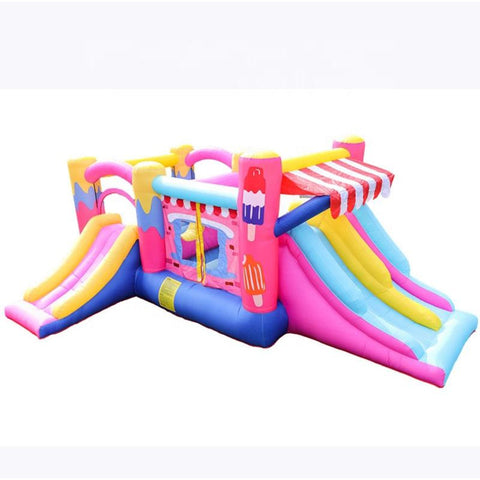 Megastar Inflatable Tutty Fruity  Ice cream Bouncer Castle House with Triple slides & Jump House