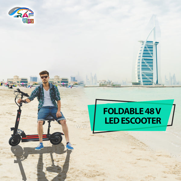 Foldable Speedy FLASH TEN 75 kmph Led electric  Scooter 800 watts With seat