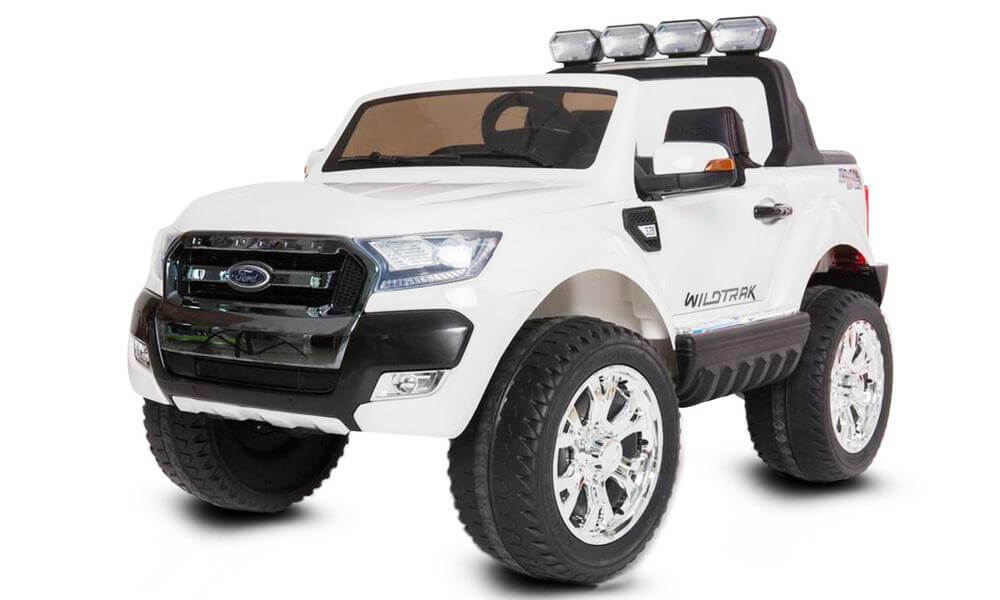 White Ford Ranger Ride On Car Two Seater