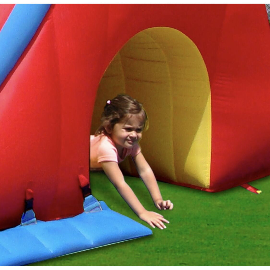 INFLATABLE DOUBLE SLIDE & BOUNCE PLAY CAVE - rafplay