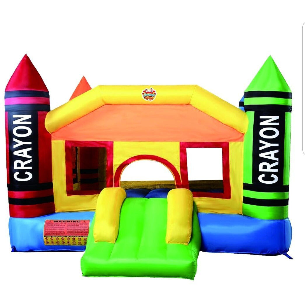 Inflatable JUMP N JOY COLOR CRAYON SLIDE CASTLE - rafplay