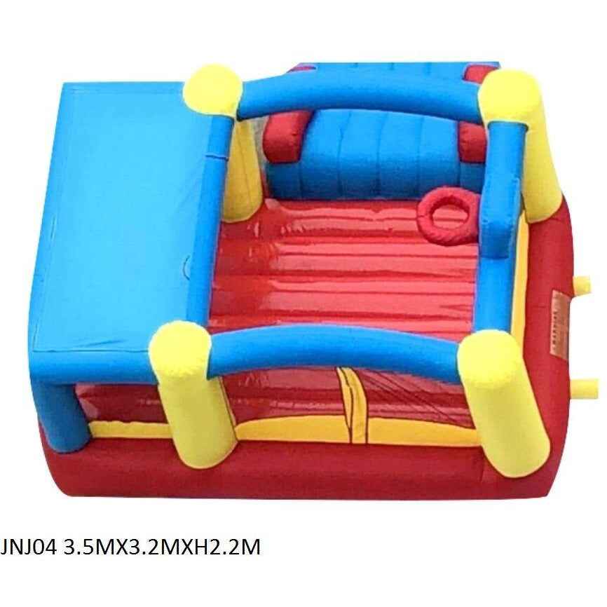 Inflatable JUMP N JOY SLIDE DUNK BOUNCING PLAY HOUSE - rafplay