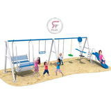 Raf Mini Amusement  Playpark  metal playset with dual swings and slides, glider & Swinger