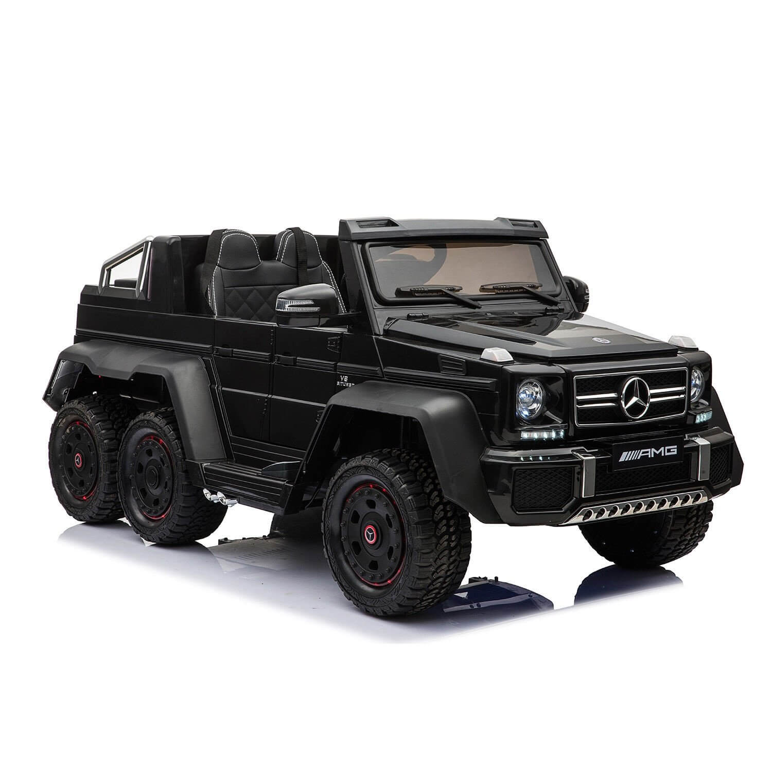 Ride On   Licensed  Mercedes Benz   TROOPER Pick Up With 6 Rolling Wheels - rafplay