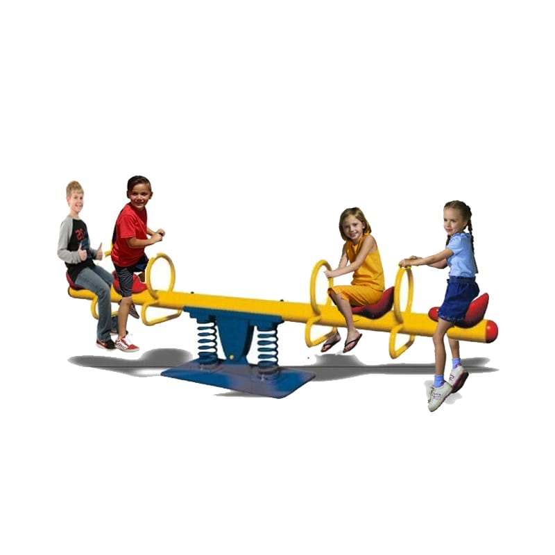 Megastar Double Springs Happy Metal See Saw- 4 seats  - Assorted  Colors - rafplay
