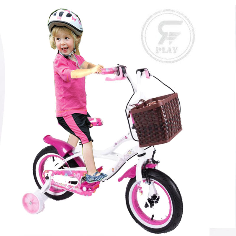 MEGAWHEELS Woody Willow 12 INCH Girls BICYCLE WITH BASKET & Training Wheels ASSORTED