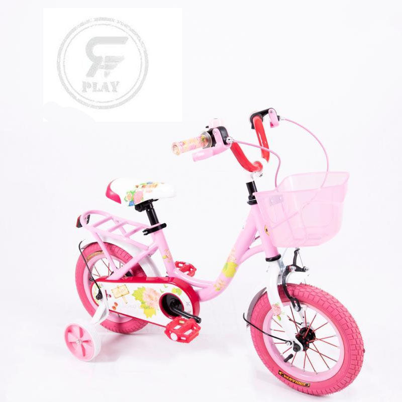"Megawheels 12"" inch Wildflower Girls  bicycle with  basket and Back Carrier Including Training Wheels-   ASSORTED"
