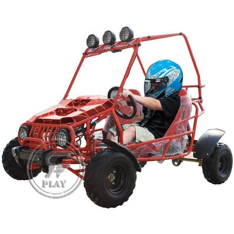 RAF Off Road Fuel Go Kart 125 cc Go Kart Buggy 125 cc - Red - rafplay