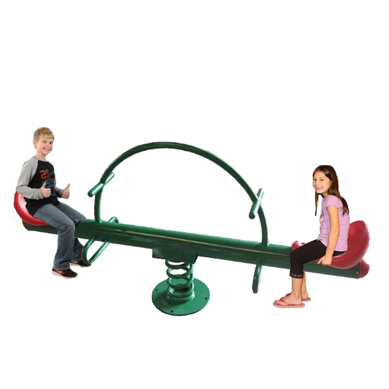 Go Up N Down Spring Metal See Saw - 2 seats  - Assorted  Colors - rafplay