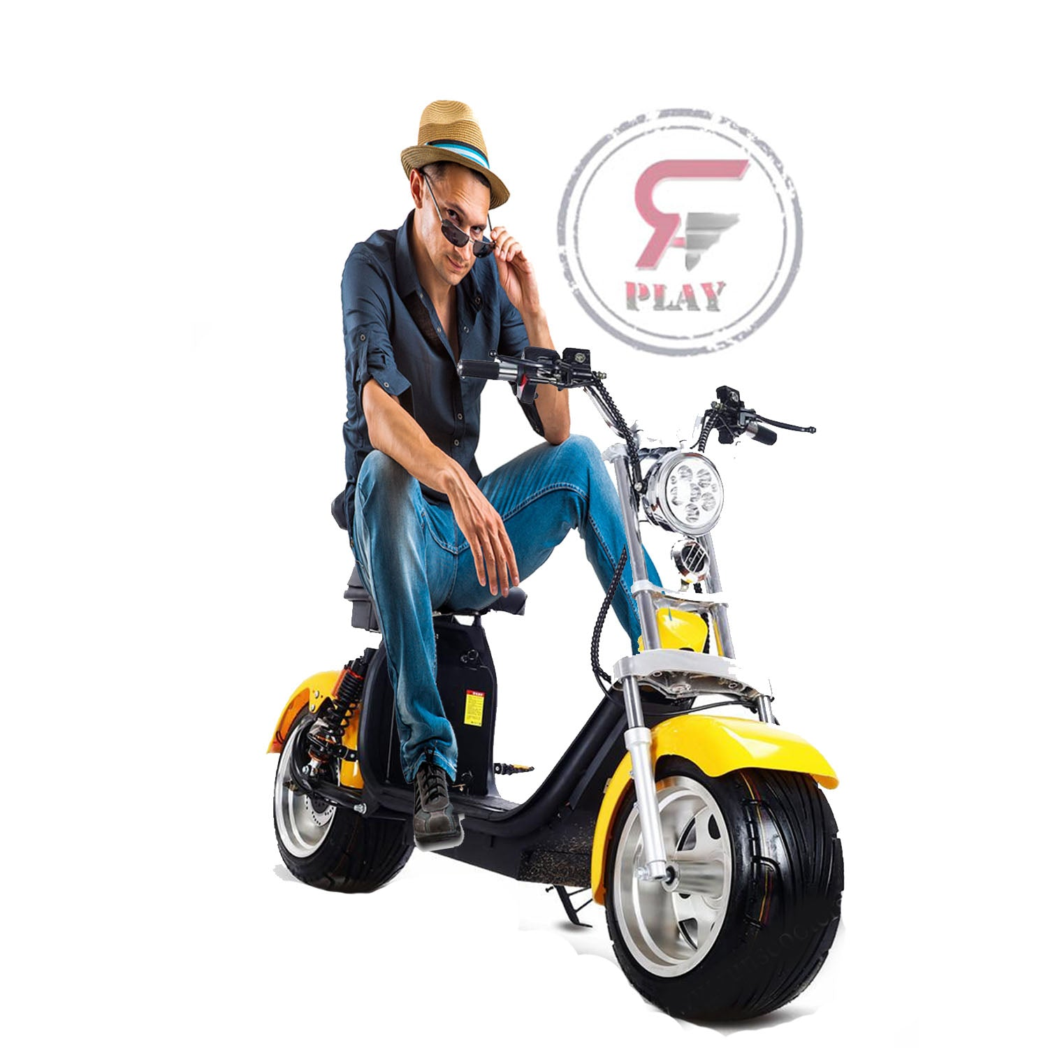 RAFPLAY TRENDY FAT WHEELS COCO SCOOTER WITH  REMOVABLE BATTERY & LIGHTS - 60 V