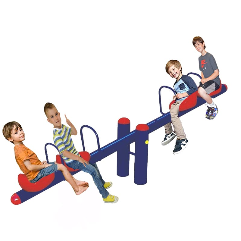 Quadraplet Metal See Saw Rocker- 4 seats  - Assorted  Colors - rafplay