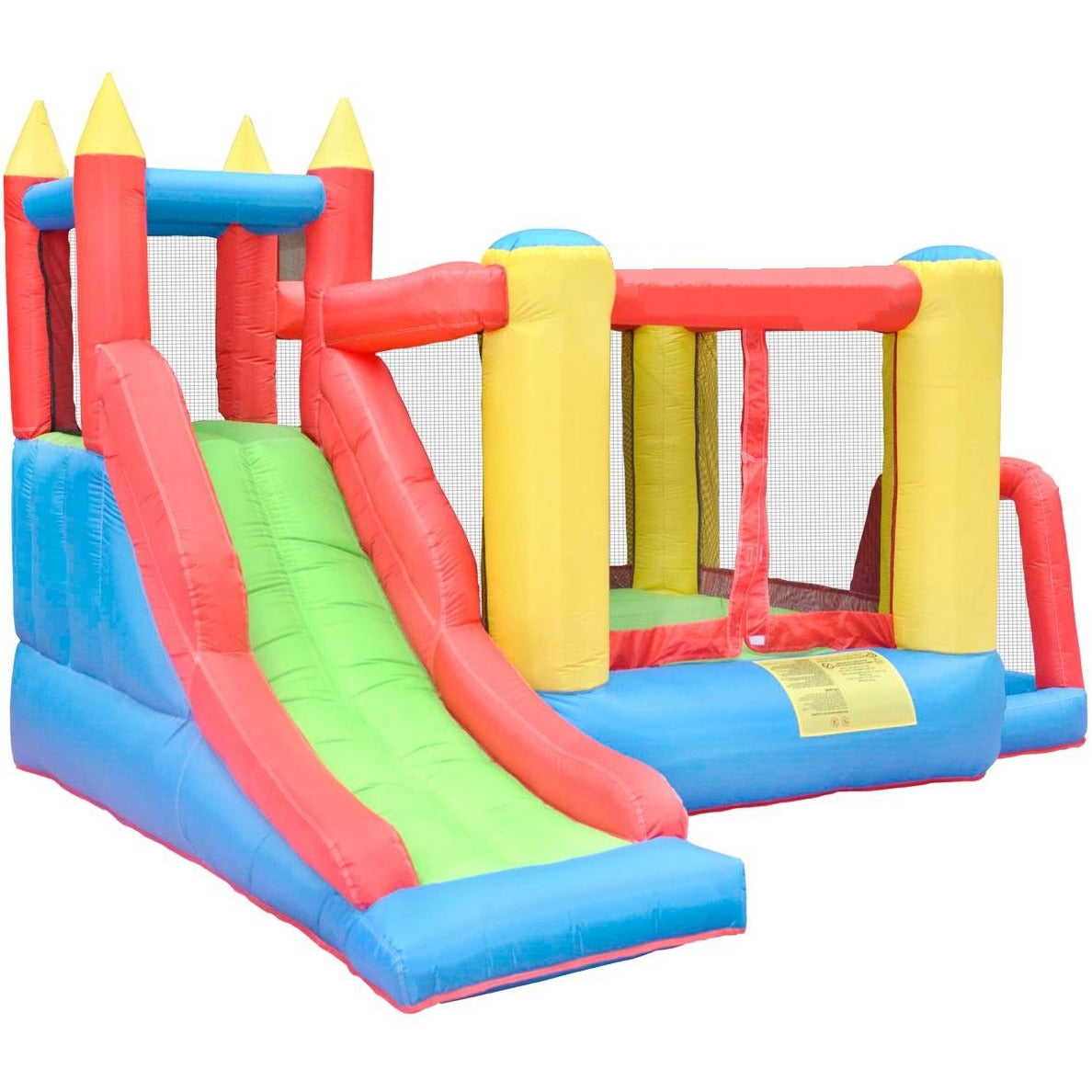 Megastar Inflatable Bouncy Mansion with Multi activities play area including basketball hoop , Ball pit , climb ,slide& Hide.