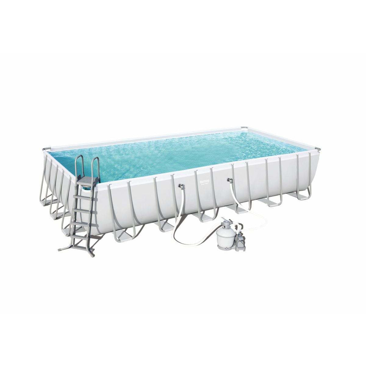 Bestway 56475 - 7.32M X 3.66M X 1.32M POWER STEEL™ RECTANGULAR POOL SET - rafplay