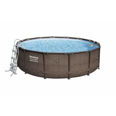 "Bestway 56664 - 14' X 42"" POWER STEELâ""¢ DELUXE ROUND POOL SET - rafplay"